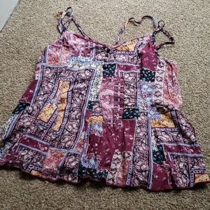 American eagle outfitters patchwork boho top